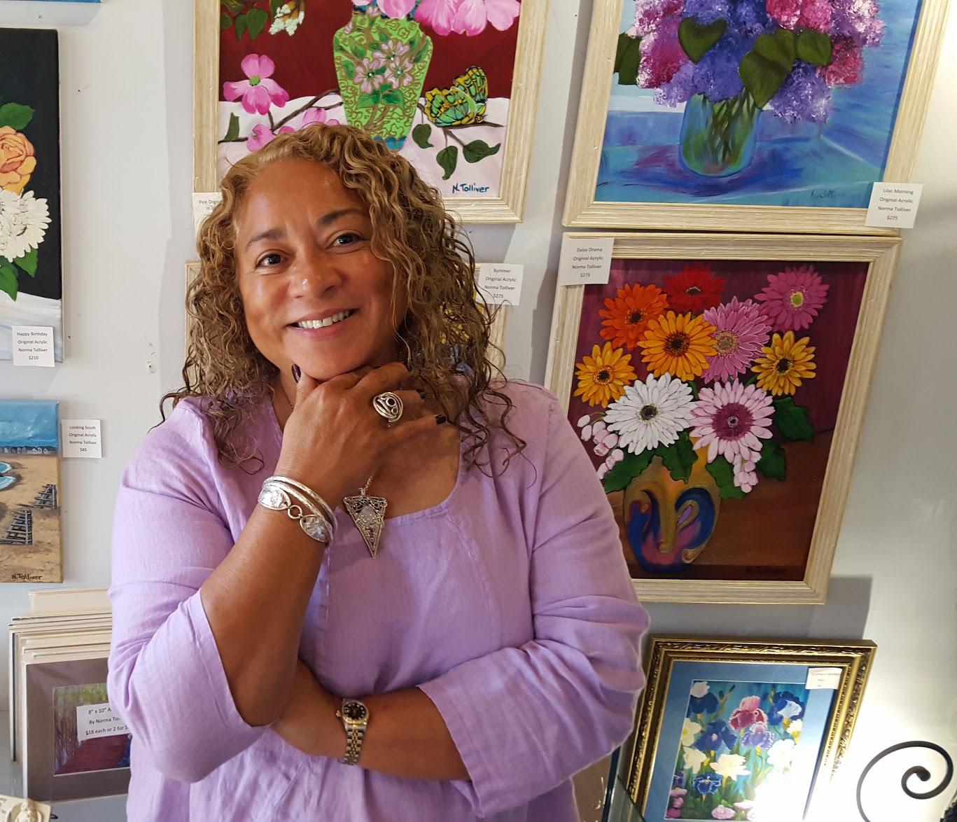 Main Avenue Galleria Founder & Artist, Norma Tolliver