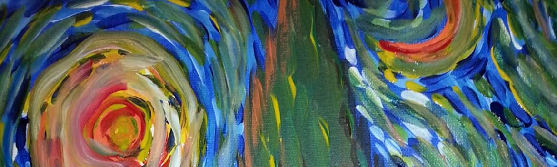 Sips & Serendipity, guided painting class, ocean grove, van gogh