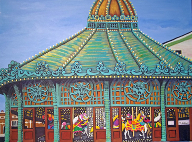 asbury park collectibles, carousel