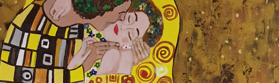 Sips & Serendipity, guided painting class , ocean grove, nj, klimt's the kiss