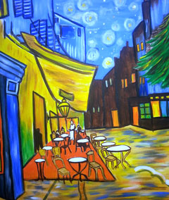 Sips & Serendipity, Guided Acrylic Painting & Wine, Main Avenue Galleria