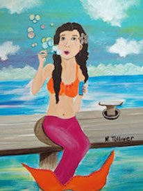 Blowing Bubbles Mermaid