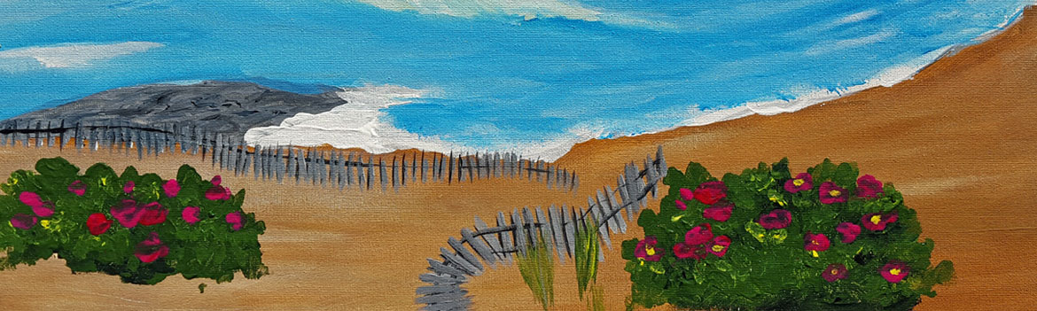 main avenue galleria, sips & serendipity, ocean grove fishing pier, guided painting class, ocean grove, nj