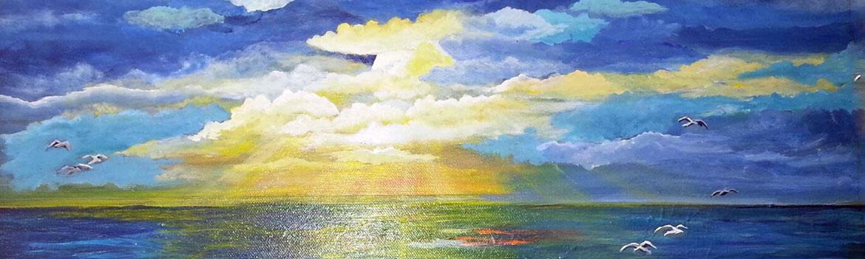 guided painting class, ocean grove, nj