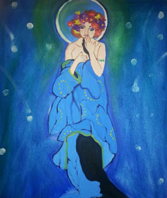 Sips & Serendipity, guided painting class, ocean grove, moon goddess