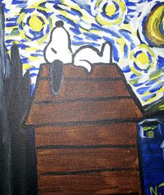 kid's summer art classes and birthday parties, ocean grove, snoopy