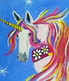 kid's summer art classes and birthday parties, ocean grove, unicorn