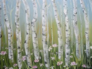 Birch Trees in Acrylics (Rotolo)