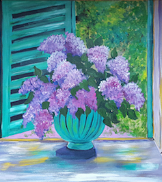 Sips Lilacs in the Window