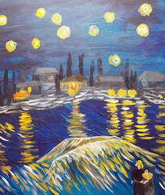 Sips Starry Night Over the Rhone