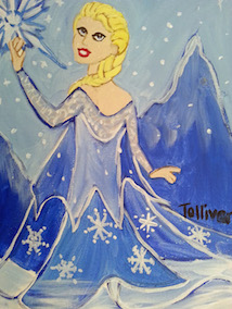 Kids Paint Along - Elsa