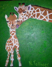 Kids Paint Along - Giraffes