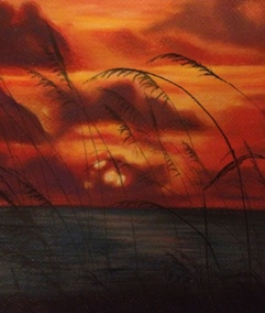 Seagrass Sunset in Pastels