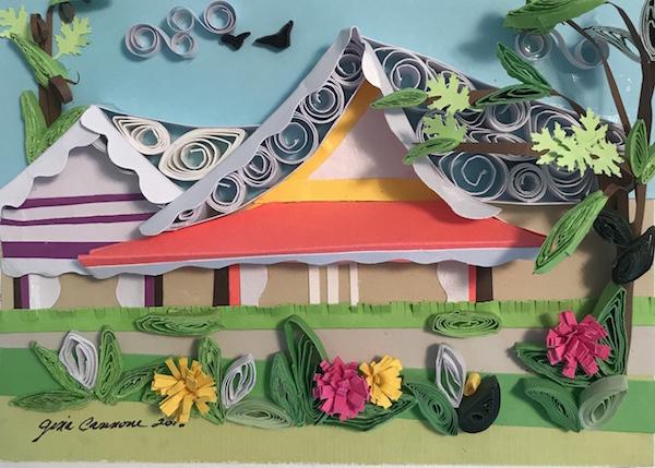 Paper Quilled Ocean Grove Tents 2