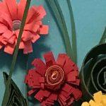 Paper Quilling Flower Boot Bouquet