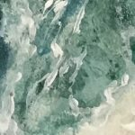 Watercolor & Crayon Ocean Tide